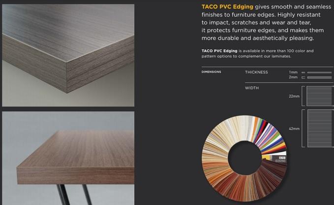 Taco HPL PVC Edging