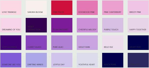 Warna cat no drop ungu dan pink