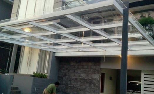 atap kaca tempered