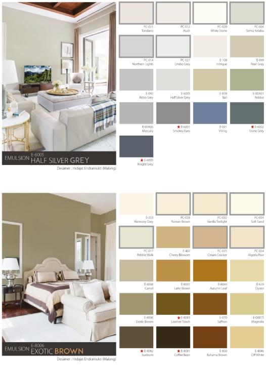 katalog warna cat mowilex dalam ruangan
