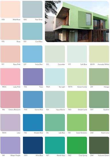 katalog warna cat vinilex