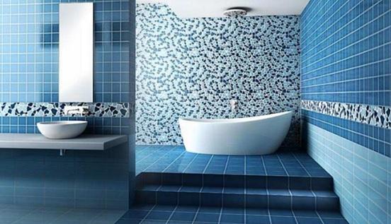 keramik kamar mandi biru
