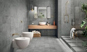 keramik kamar mandi motif batu alam
