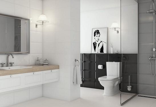 keramik kamar mandi putih