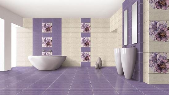 keramik kamar mandi ungu