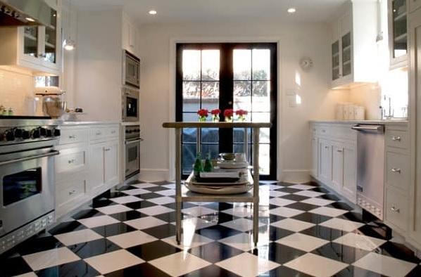 keramik lantai papan catur