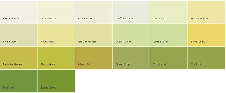 warna cat dulux hijau mint