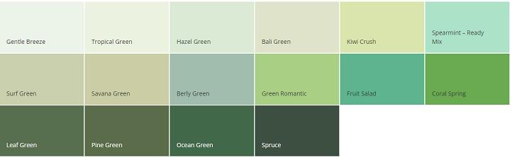 warna cat dulux hijau