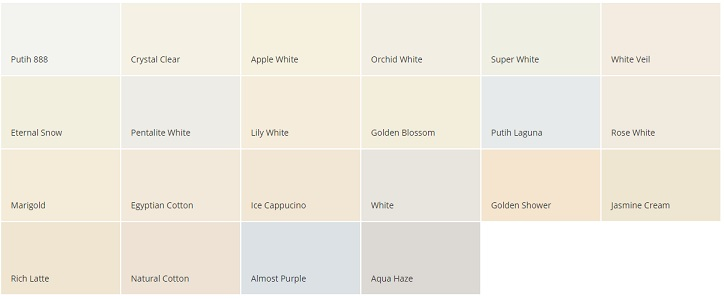 warna cat dulux putih