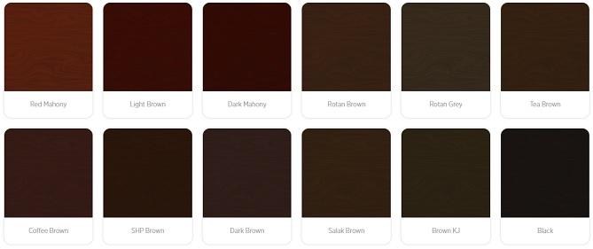 warna cat kayu gelap