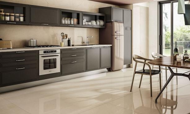 granit lantai dapur