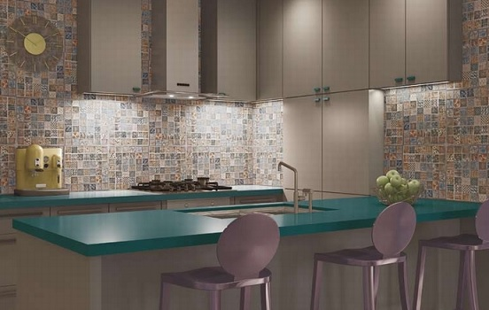 keramik dapur mozaik