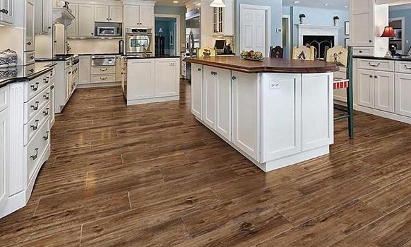 keramik lantai dapur motif kayu