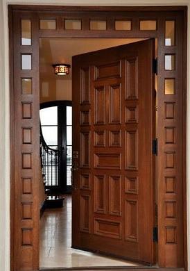 daun pintu kayu mahoni