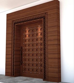 model daun pintu kayu ukiran